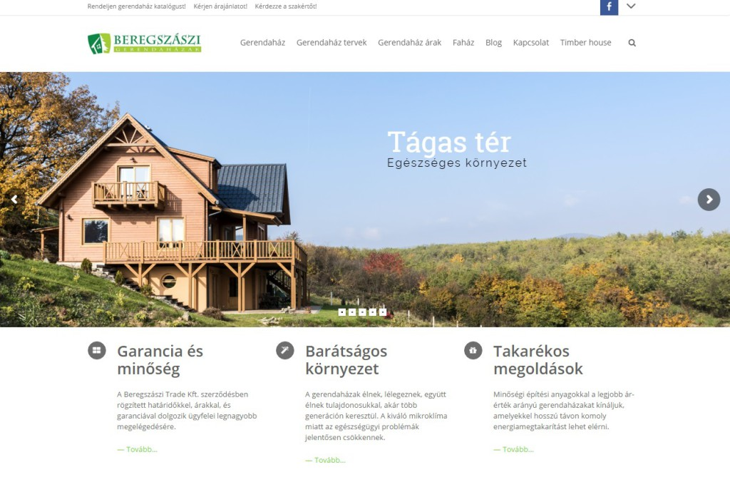 A gerendaház weboldal 2015-ben