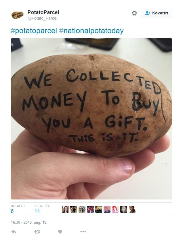 Pénzt gyűjtöttünk, hogy ajándékot vegyünk Neked. Ez az.
